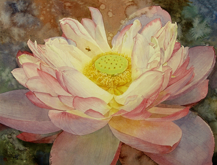 "Water lily,21""X29"".SOLD"